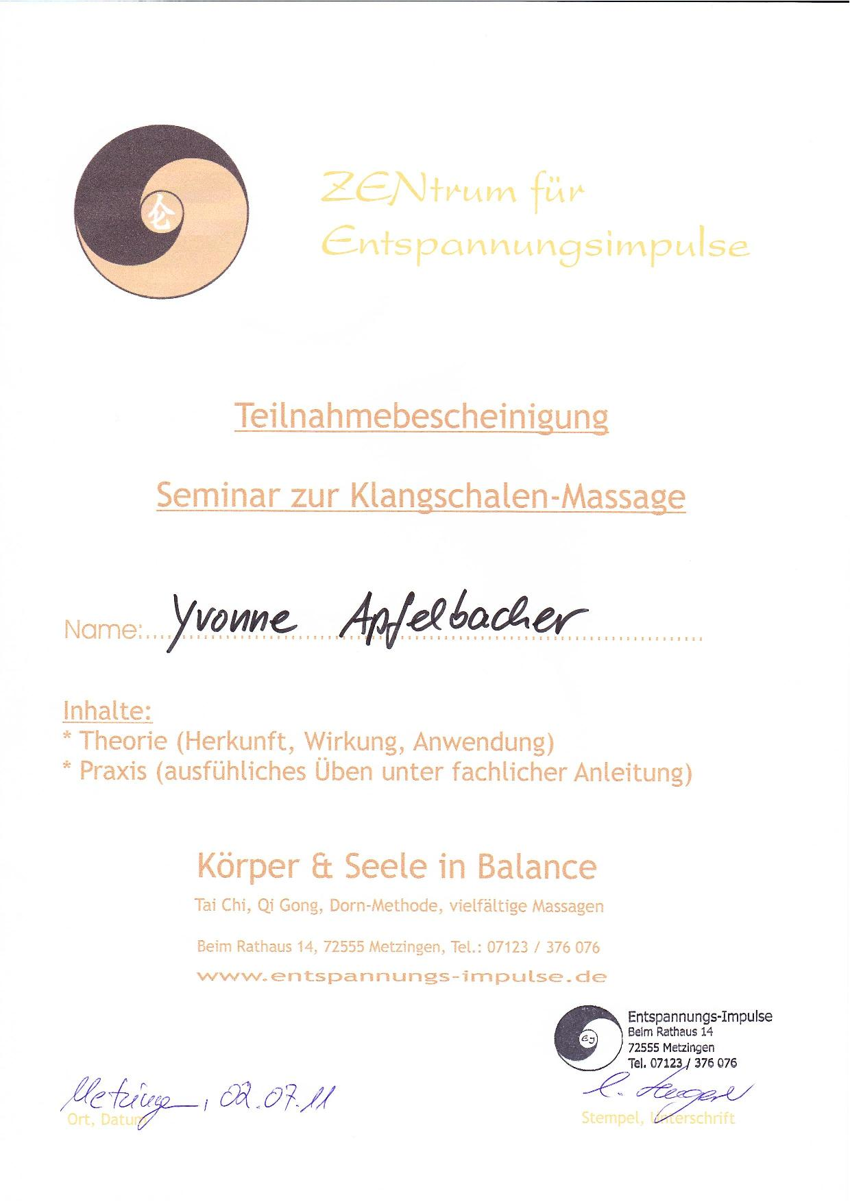 Klangschale-Massage
